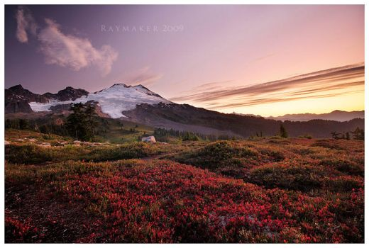 Dawn on Mt. Baker by Raymaker