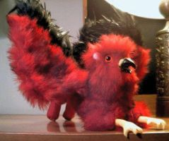 Sreaming Red Plush Griffin by stephanielynn