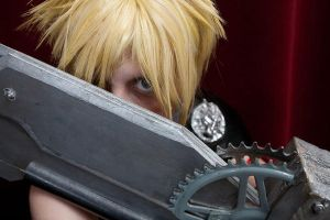 Cloud Strife-Mako Eyes by Ginger-Jude