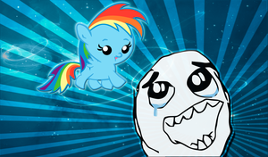 Baby Rainbow Dash Wallpaper by alanfernandoflores01