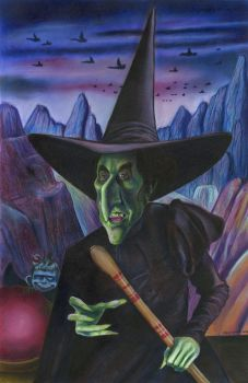 Margaret Hamilton as the Wicked Witch of the West by Caricature80