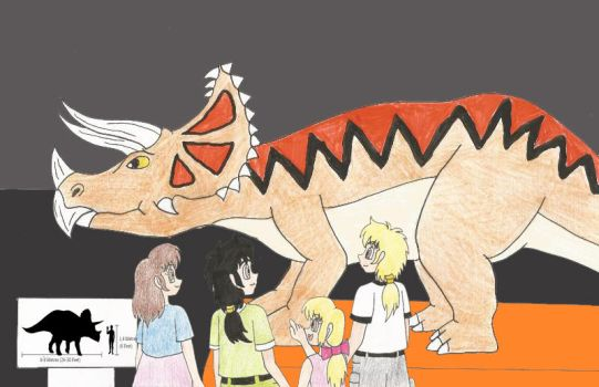Josh and co at a dinosaur museum 2 by Animedalek1