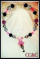 Sassy In Pink - Corset Necklace by LadyAriessTemptra