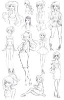 Disney High Sketchdump 3 by Nina-D-Lux