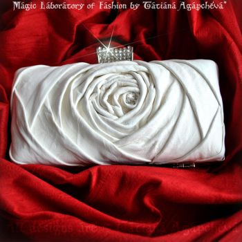 WEDDING Clutch, Purse Leather Italian Ivory Lambsk by TianaChe