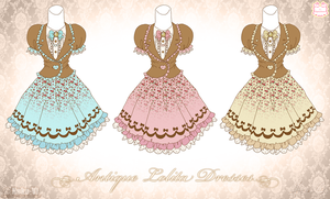 Antique Lolita Dresses by Neko-Vi