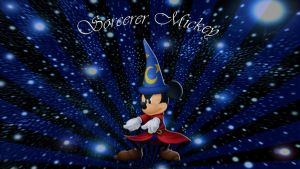 Fantasia-Sorcerer Mickey Wallpaper by JanetAteHer