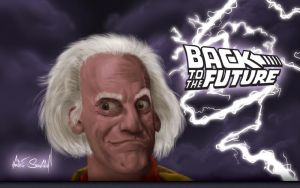 Wallpaper: Doc Brown by RedSlicer