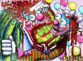 Clown Barfs Clown by ckoffler