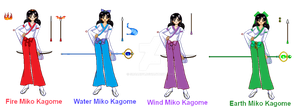 Prototypes - SSMU IYWLAD Kagome Miko Group by smcandy