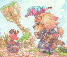 The Lion and The Drago egg by jengslizer