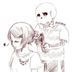 When Guys do Sweet Things [Frisk x Sans] by narcyzus