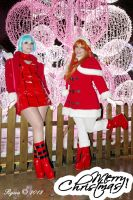merry christmas asuka and rei (evangelion) by Nerine-ayalaure