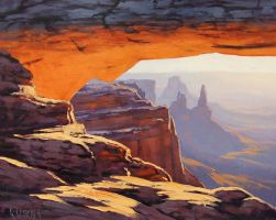 Mesa Arch Sunrise by artsaus