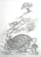 The Tortoise and the Hare Race by HouseofChabrier