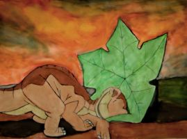 Littlefoot and the treestar by Leeham991