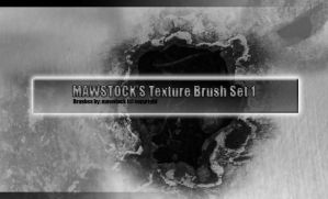 Mawstock Texture Brushes Set 1 by mawstock