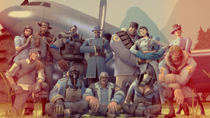 [SFM] All's Fair: Blue Team by kungfubellydancer