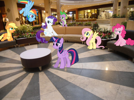 Mane Six at the mall by Eli-J-Brony