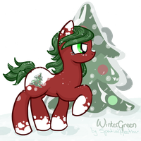 Commission: Winter Green (mechafone) by SpatialHeather