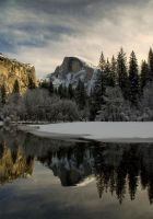 Half Dome Reflection, Winter by jdmimages