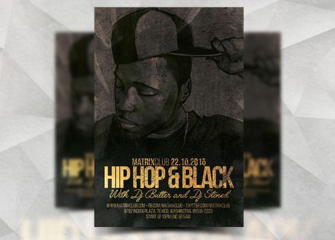 Hiphop Black by Flyermarket