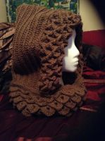 Single Color Crochet Hooded Cowl by CraftyDesignsbyBritt