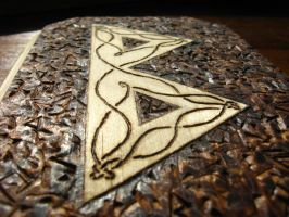 Woodburned Berkano Rune Plaque by EihwazCraftwork