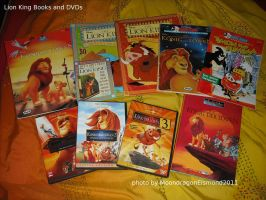 Lion King stuff Books and DVDs by MoondragonEismond