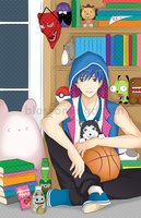 kuroko no basketball: chilling by blossomingdeath