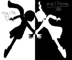 Bad apple + homestuck: Maria and Marianna by Queenofraging