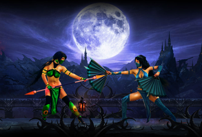 Jade vs Kitana - Mortal Kombat by denisovslava