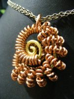 Coiled Nautilus Pendant by BacktoEarthCreations