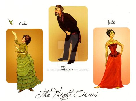 Night Circus Character Designs by Deirling