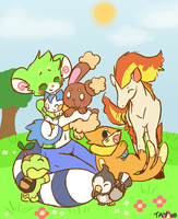 Pop's Pokemon Team by drill-tail