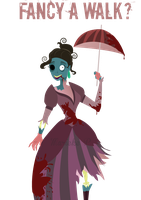 Zombie lady by mariekelikestodrawn
