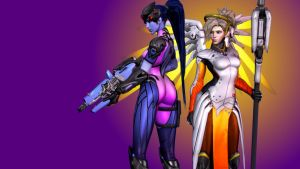 Overwatch (1 - Widowmaker and Mercy) by AdeptusInfinitus