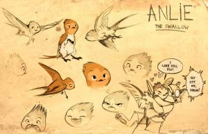 Anlie the swallow by Psychoon