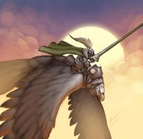 Comission Eagle Knight by b-cesar