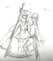 Sonia And Eleanora Sketch Art by ShadowSpiritPG