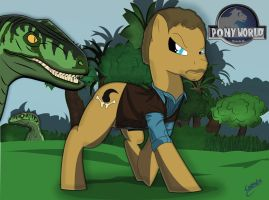 JURASSIC WORLD MLP ''OWEN'' by chiimich