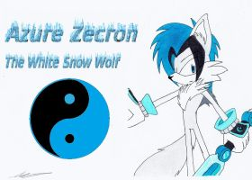 Azure Zecron The White Snow Wolf by AZ-Derped-Unicorn