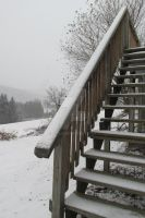 Stairs covered in snow by wc4r