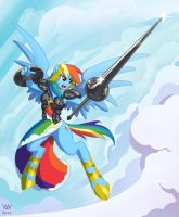 Rainbow Knight by Maxa-art