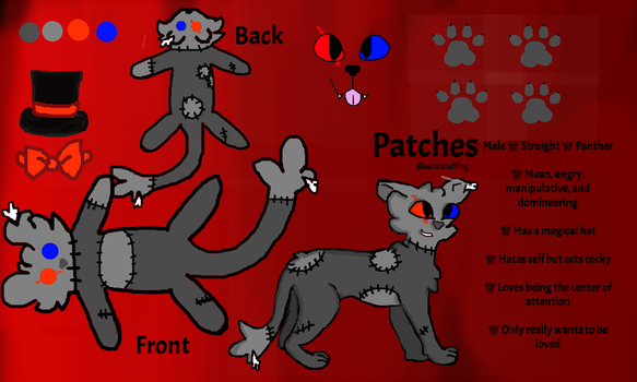 Patches Reference Sheet by dragonclawscat