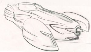 Batmobile Sketch V by speeddemon575
