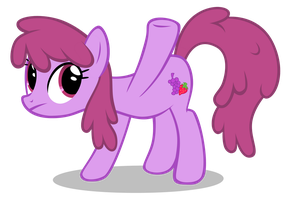 Berry Punch Is Confused Vector by MLP-Scribbles