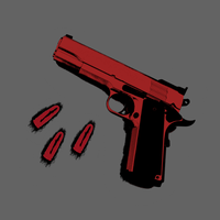 Hand Gun and Bullets by Rotemavid