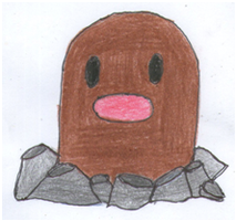 Diglett by IruzaNadiru