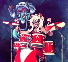 Chromatic Chaos Drummer by snowkatt101